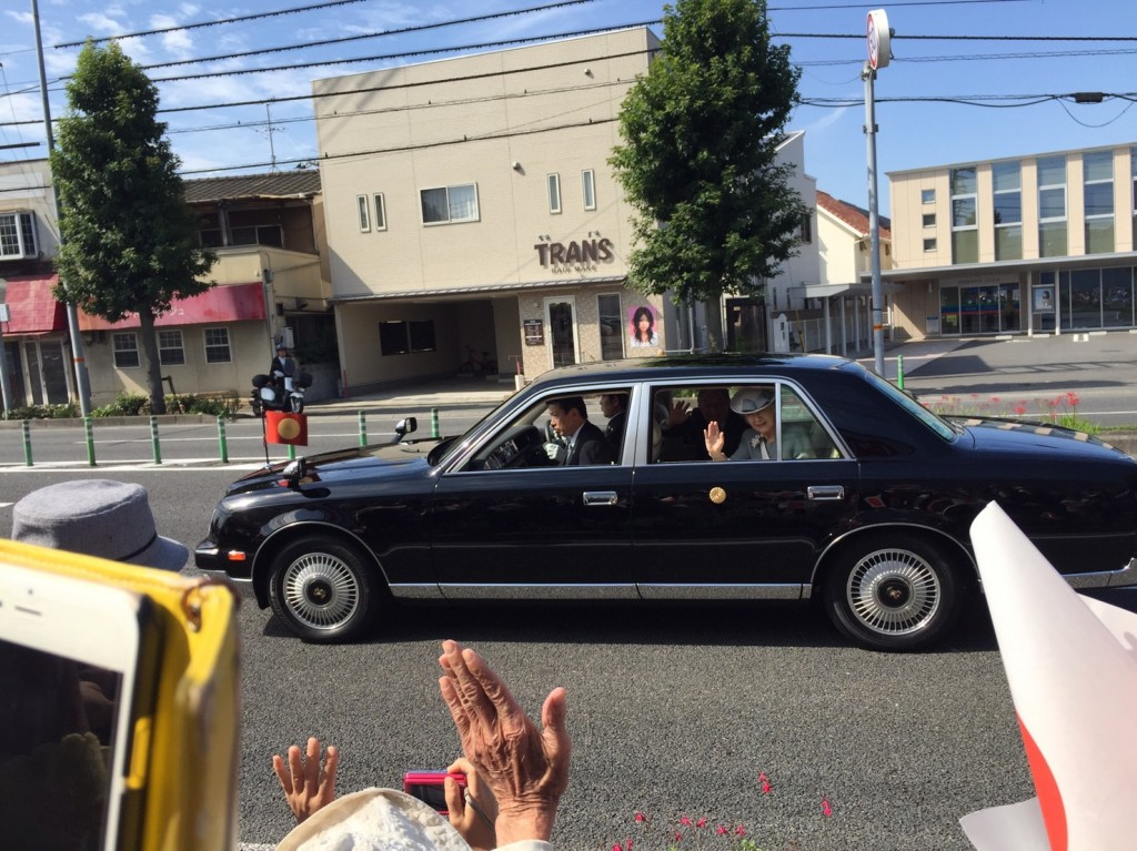 2017年9月30日国体天皇陛下車列